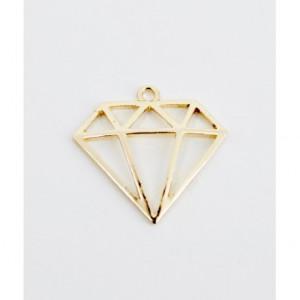 Διακοσμητικό Γάμου Διαμάντι Μεταλλικό Χρυσό Μ58 Riniotis