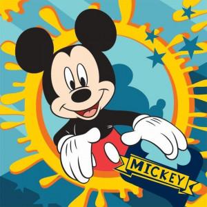 Πετσετάκι - Λαβέτα Mickey Disney (Κίτρινο) (Κωδ.621.01.011)