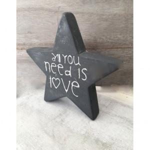 Μπομπονιέρες Γάμου Βάπτισης Πέτρινο Αστέρι με Λογότυπο 0/14 Riniotis