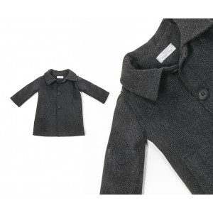 Παλτό Grey long coat: (code: 372/39) angels wings