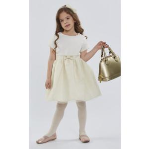 Φόρεμα Κοντομάνικο Εκρού Εβίτα 175216
