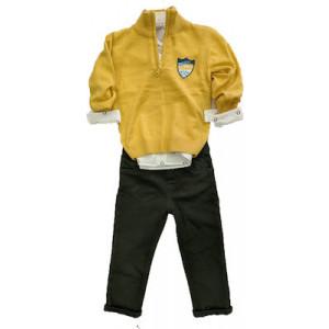 Σετ Μπλούζα Πλεκτή Με Πουκάμισο Και Παντελόνι 077.041.061