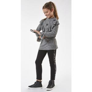 Μπλουζοόρεμα + Κολάν Παιδικό Ανοιχτό Γκρι (#291.086.098+15#)