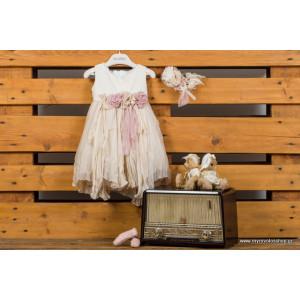 Ολοκληρωμένο πακέτο βάπτισηs με αυτό το Φόρεμα (Neonato Κωδ.ΝΚ037) Προσφορά Με βαλίτσα rain η θρανίο παγκάκι!!!!