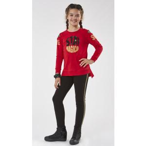 Μπλουζοφόρεμα Και Κολάν Κόκκινο Εβίτα 199101