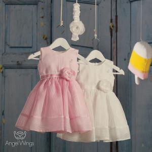Ολοκληρωμένο πακέτο βάπτισηs με αυτό Φόρεμα (angels wings Κωδ.Lollipop. 070-120) (Με Βάλίτσα η παγκάκι θρανίο) Δωρεάν μεταφορικά!!i.