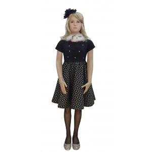 Φόρεμα Κοντομάνικο Μαύρο Εβίτα 17894