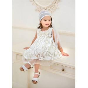 Ολοκληρωμένο πακέτο βάπτισηs με αυτό το φόρεμα (Baby bloom #119.100-120#) Με βαλίτσα rain η παγκάκι θρανίο Δωρεάν μεταφορικά