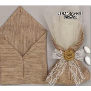 Πουγκί  λινό μύτη16Χ25(35-759)