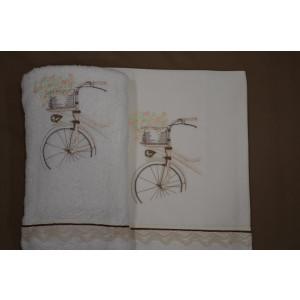 Λαδόπανο vintage ποδήλατο La christine (Κωδ.077-6) (κωδ.προμ 593)