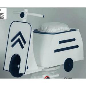 Ξύλινο κουτί  βέσπα (Κ529-1)