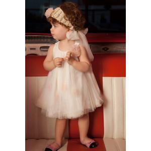 Ολοκληρωμένο πακέτο βάπτισηs με αυτό το Φόρεμα ειδική τιμή (Vanessa Cardui Κωδ.60034)