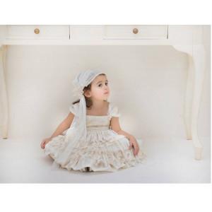 Ολοκληρωμένο πακέτο βάπτισηs με αυτό το φόρεμα (Baby bloom #119.97-128#) Με βαλίτσα rain η παγκάκι θρανίο Δωρεάν μεταφορικά