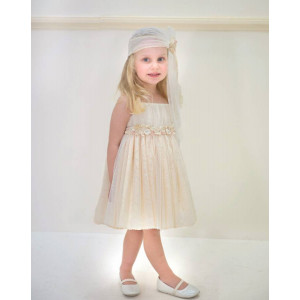 Ολοκληρωμένο πακέτο βάπτισηs με αυτό το φόρεμα (Baby bloom #119.97-120#) Με βαλίτσα rain η παγκάκι θρανίο Δωρεάν μεταφορικά!