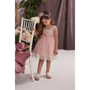 Ολοκληρωμένο πακέτο σετ βάπτισης με αυτό το φόρεμα Baby bloom 120.134 narlis.gr
