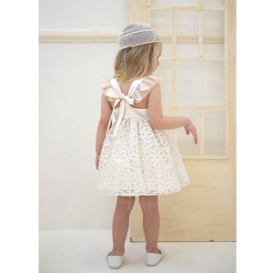 Ολοκληρωμένο πακέτο βάπτισηs με αυτό το φόρεμα (Baby bloom #119.130-128#) Με βαλίτσα rain η παγκάκι θρανίο Δωρεάν μεταφορικά