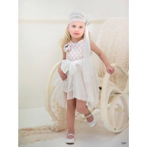 Ολοκληρωμένο πακέτο βάπτισηs με αυτό το φόρεμα (Baby bloom #119.134-128#) Με βαλίτσα rain η παγκάκι θρανίο Δωρεάν μεταφορικά