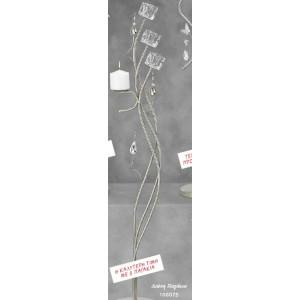 Λαμπάδα Φωτιστικό Διώνη με Παγάκια (Κωδ.108075) (Η τιμή αφορά 2 Τεμάχια)