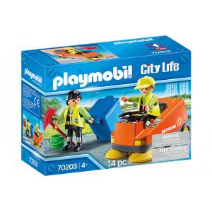 Playmobil Σάρωθρο Οδών Και Οδοκαθαριστές 70203 narlis.gr