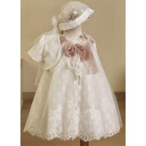Ολοκληρωμένο πακέτο βάπτισηs με αυτό το Φόρεμα (Ευσταθίου) (Κωδ.16128) Με βαλίτσα rain ή παγκάκι θρανίο