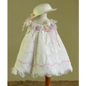 Ολοκληρωμένο πακέτο βάπτισηs με αυτό το Φόρεμα (Ευσταθίου) (Κωδ.17123) Με βαλίτσα rain ή παγκάκι θρανίο