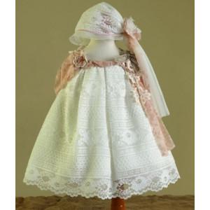 Ολοκληρωμένο πακέτο βάπτισηs με αυτό το Φόρεμα (Ευσταθίου) (Κωδ.17120) Με βαλίτσα rain ή παγκάκι θρανίο