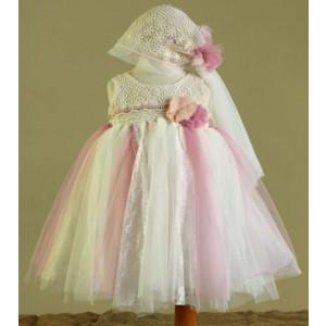 Ολοκληρωμένο πακέτο βάπτισηs με αυτό το Φόρεμα (Ευσταθίου) (Κωδ.17107) Με βαλίτσα rain ή παγκάκι θρανίο