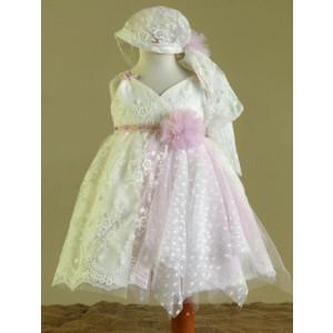 Ολοκληρωμένο πακέτο βάπτισηs με αυτό το Φόρεμα (Ευσταθίου) (Κωδ.17173) Με βαλίτσα rain ή παγκάκι θρανίο