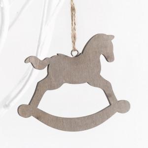Μπομπονιέρα Αλογάκι ξύλινο κρεμαστό (Παρίσις) (Κωδ.14Γ6545-0171)