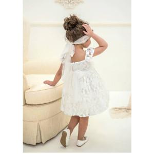 Ολοκληρωμένο πακέτο βάπτισηs με αυτό το φόρεμα (Baby bloom #119.102-125#) Με βαλίτσα rain η παγκάκι θρανίο Δωρεάν μεταφορικά