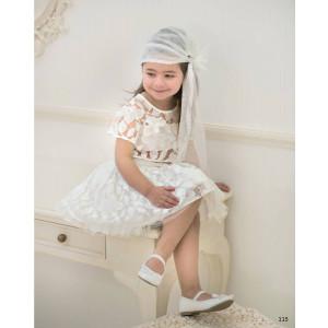 Ολοκληρωμένο πακέτο βάπτισηs με αυτό το φόρεμα (Baby bloom #119.132-128#) Με βαλίτσα rain η παγκάκι θρανίο Δωρεάν μεταφορικά