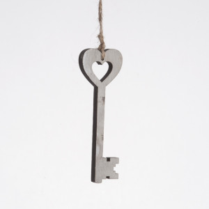 Μπομπονιέρα Κλειδί Καρδιά (Παρίσης) (Κωδ.15Α1465-0176)