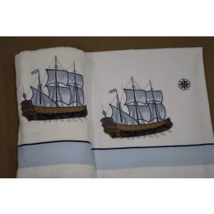 Λαδόπανο καράβι ιστιοφόρο La christine (Κωδ.021-6) + 5€ στο πακέτο βάπτισης
