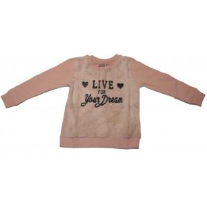 Μπλούζα Φούτερ Παιδική (Ροζ) (291.018.000+3)