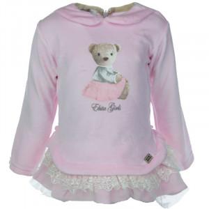Βρεφικό Φόρεμα Βελουτέ Ροζ  187520 Κωδ. 291.330.033