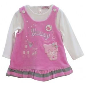 Φόρεμα & Μπλούζα Βρεφικό Ροζ (Κωδ.291.330.036+3)