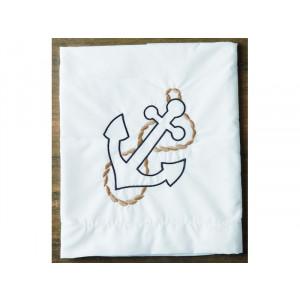 Σετ λαδόπανα πετσέτες με κέντημα άγκυρα 20417 orama