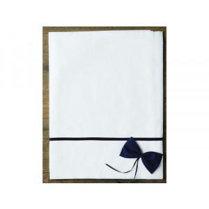 Σετ λαδόπανα πετσέτες με ρέλι και φιόγκο μπλε 20424 orama