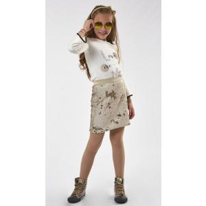Μπλούζα - Φούστα με πούλιες Παιδικό (#291.033.018+1#)