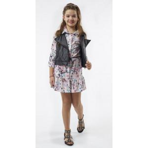 Φόρεμα - Γιλέκο Δερμάτινο Παιδικό (#291.087.074+1#)