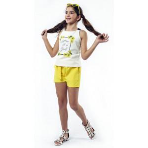 Μπλούζα & Σορτς Παιδικό (Κίτρινο) (#291.027.015+5#)