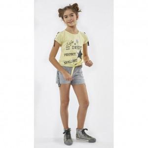 Σετ Μπλούζα & Σορτς Παιδικό (Κίτρινο) (#291.060.040+5#)