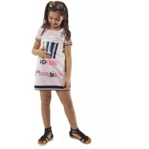 Φόρεμα Pop Corn (Ροζ) (#291.087.090+3#)