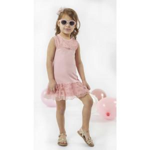 Φόρεμα Δανδέλα Μπεμπέ (Ροζ) (#291.087.076+3#)