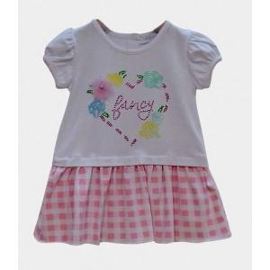 Φόρεμα Καρώ Βρεφικό (Ροζ) (#291.330.062+3#)