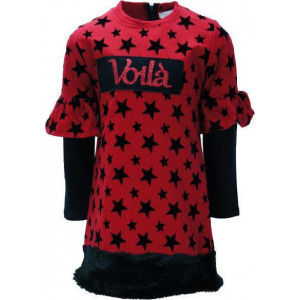 Φόρεμα Παιδικό Με Αστεράκια Κόκκινο 291.086.139
