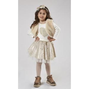 Κορίτσι 1-6 σετ φούστα ΕΒΙΤΑ εκρού 199243