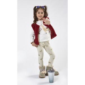 Σετ Παιδικό 3τμχ Γιλέκο Μπλούζα Κολάν