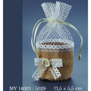 Μπουμπουνιέρες πουγκί λινάτσα (Nuova Vita MY14003) (5029)