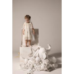 Ολοκληρωμένο πακέτο βάπτισηs με αυτό το φόρεμα Baby U Rock (FW18-19/500806) Mε το κουτί Ζητήστε προσφορά!!!!!